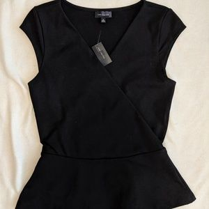 NWT The Limited Wrap Peplum Top